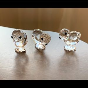 Swarovski Figurine- 3 little chicks